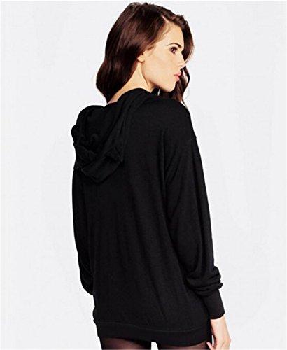Bonamana I'm a Cat Pattern Women Long Sleeves Sweatshirt With ear Hoodies (Medium)