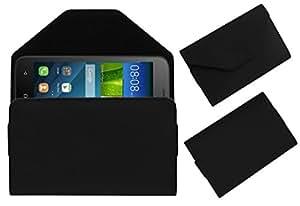 Acm Premium Pouch Case For Huawei Y541 Flip Flap Cover Holder Black