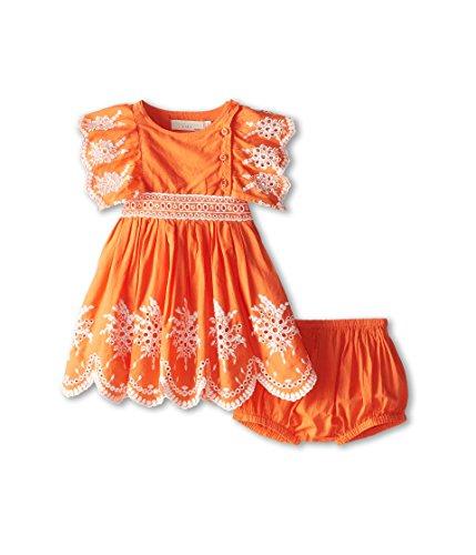 (ステラマッカートニー) Stella McCartney Kids ガールズ Foxglove Baby Eyelet Dress (Infant) キッズセット Orange 6 Months [並行輸入品]