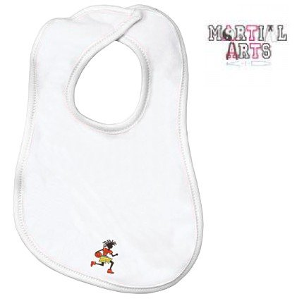 Embroidered Infant Terry Bib with the image of: martial arts kid