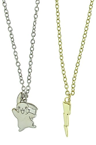 [Pokemon Mixed Metal 2 Layer necklace Set] (Slowpoke Costume)