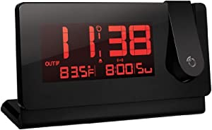 Oregon Scientific RMR391PA Slim Black Line Projection Clock