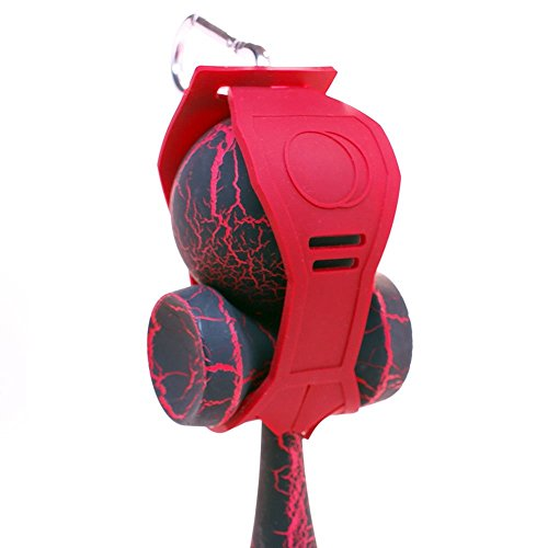 Red Silicone Kaleb Kendama Holder With Clip