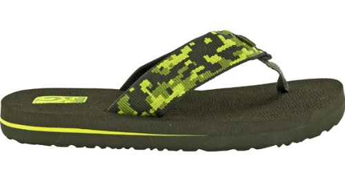Teva Mush Ii Y'S Flip Flop (Toddler/Little Kid/Big Kid),Camo Green,4 M Us Big Kid front-1004110