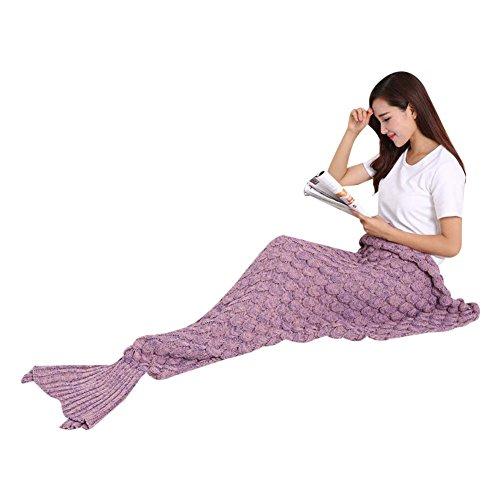 Dressyday Erwachsene Gestrickte Meerjungfrauschwanz Strickmuster Meerjungfrau Decke