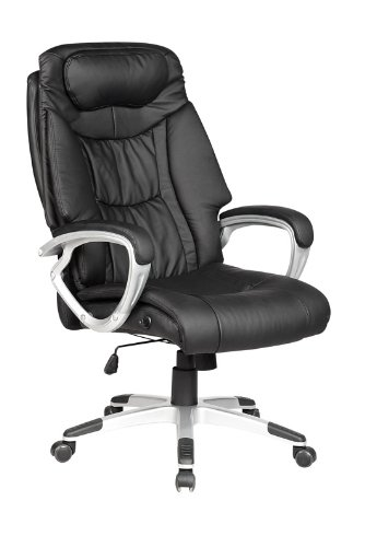 High Back Executive Leather Ergonomic Office Chair Computer Desk w/Metal Base O13