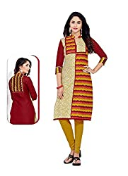 Comfortica Ethnicwear Women's Unstitched Kurti Fabric Multi-Coloured Free Size (JKMaya1012)