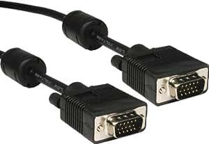 15 Broches SVGA câble Mâle PC Vers Moniteur Cordon Avec Ferrite Noir 3 m