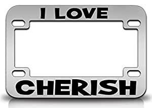 Amazon.com: I LOVE CHERISH Female Name Quality Metal MOTORCYCLE