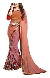 ARV ENTERPRISE Women's Georgette Saree (Pink)