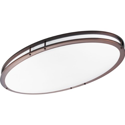 Progress Lighting P7251-174EBWB Oval Fluorescent Ceiling Fixture, Urban Bronze