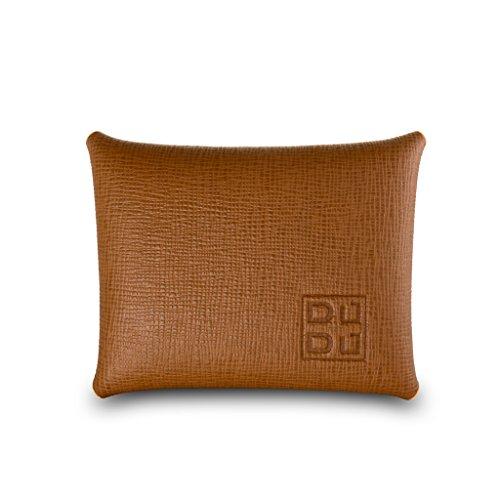 Portamonete euro tascabile in pelle Saffiano Made in Italy DUDU Cuoio
