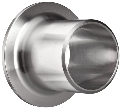 "Stainless Steel 304/304L Butt-Weld Pipe Fitting, Type A MSS Stub End, Schedule 40, 3/4"" Pipe Size"