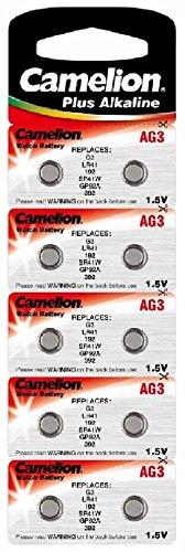 CAMELION pile alkaline, bouton aG3 lR41, lR736/392