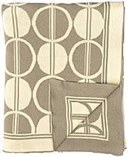 Darzzi Grey Natural Circle Trellis Throw Blanket 50x60