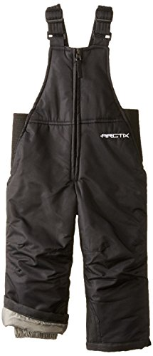 Arctix Chest High Insulated Snow Bib Overall, Black, 24 Months