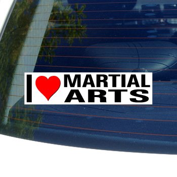 I Love Heart MARTIAL ARTS - Window Bumper Sticker