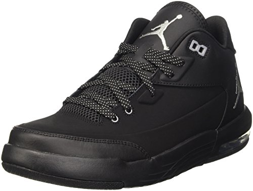 Nike Jordan Fly Origin 3, Scarpe da Basketball Uomo, Nero (Black/Metallic Silver/Black/Black), 42 1/2 EU