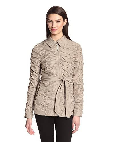 Betsey Johnson Women's Ruched Windbreaker  [Oat]