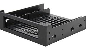BitFenix SofTouch Halterahmen für 2,5/3,5 HDD in 5,25 schwarz