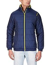 Reebok Men's Track Jacket (4055338942580_AE2939_S_Faux Indigo and Vital Green )