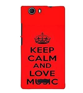 printtech Love Music Back Case Cover for Micromax Canvas Nitro 2 E311::Micromax Canvas Nitro 2 (2nd Gen)