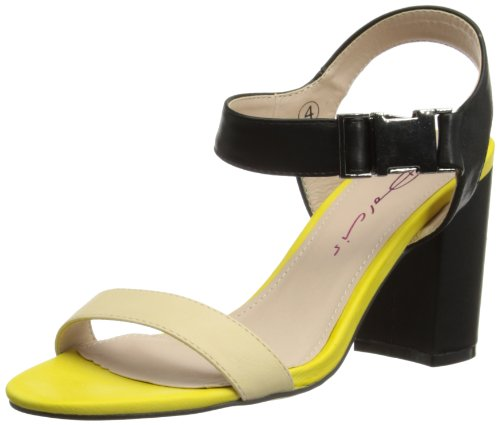 Dolcis Womens Fashion Sandals OLP197 Black/Yellow 8 UK, 41 EU