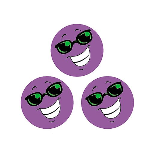 Trend Enterprises Smiles (Grape) Round Stinky Stickers, Small, Purple (T-83205)