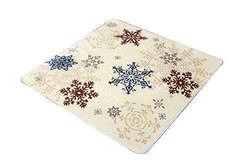 イケヒコ ラグ カーペット 3畳 洗える 雪柄 『グラスリー』 アイボリー 約200×250cm(ホットカーペット対応)