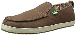 Sanuk Men\'s Commodore Slip-On Loafer, Brown/Tan, 9 M US