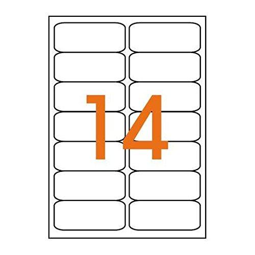 AGIPA Lot de 3 Btes 1400 étiquette 99,1x38,1 mm (14 x 100F A4) Jet d'encre Coin Rond Permanent Blanc