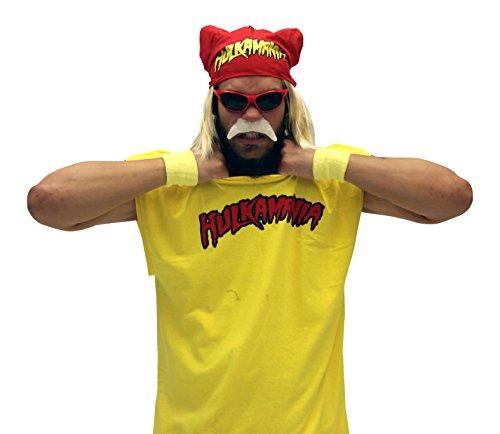 Hulk Hogan Hulkamania Complete Costume Set (adult Medium, Red Sunglasses/red Bandana) Picture