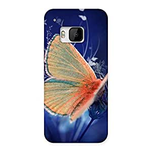 Yellowish Butterfly Back Case Cover for HTC One M9