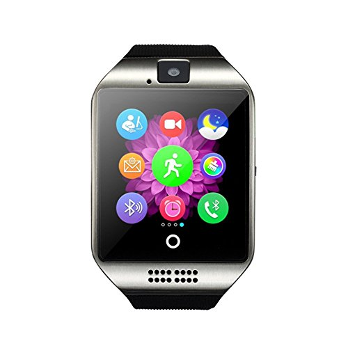 Dohomai 2016 Newest Q18 Smart Watch Bluetooth Smartwatch Phone with Camera TF/SIM Card Slot for Android Samsung Galaxy S7,S6,S5,Note 5,HTC,SONY,LG,Huawei,Google Nexus (silver)
