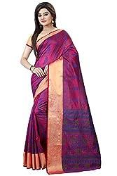 Trendy Store Hand Printed Silk Cotton Blend Sari