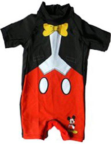 Mickey Mouse giovani Costume da bagno 2-5anni da bagno Body (en1852) Schwarz/Rot 2 anni