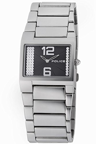 Police Women's PL-12695LS/02M Vanity Black Dial Stainless Steel Band Watch