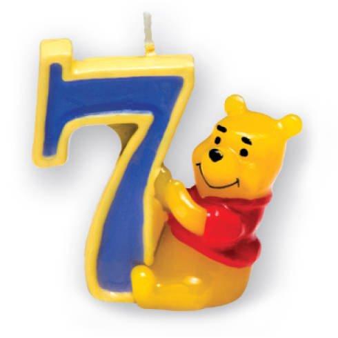 Kerze 7 Winnie Pooh, 3D