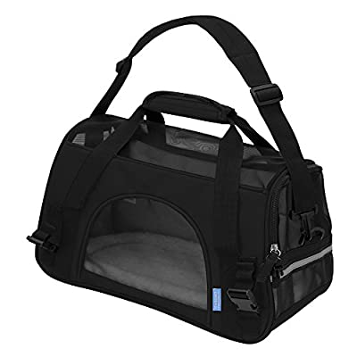 """OxGord Pet Carrier Soft Sided Cat / Dog Comfort """"FAA Airline Approved"""" Travel Tote Bag - 2015 Newly Designed"""