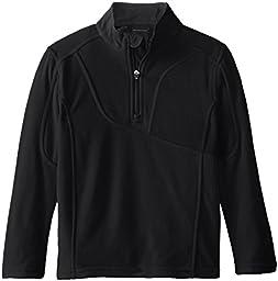 Spyder Little Boys\' Speed Half Zip Fleece Jacket, Black, Large/6