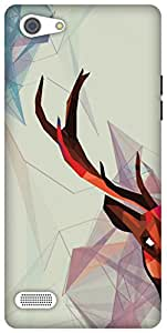 The Racoon Lean Deer Fractals hard plastic printed back case / cover for Oppo A33