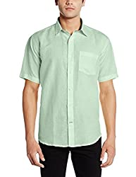 Greenfibre Men's Casual Shirt (90IT_40_Patina Green)