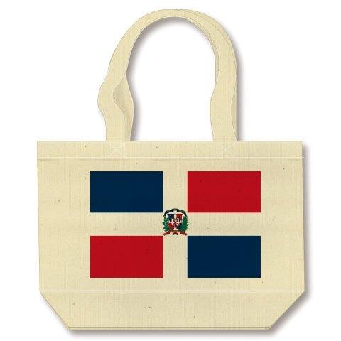 ドミニカ共和国の国旗ー片面プリント トートバッグ(ナチュラル)