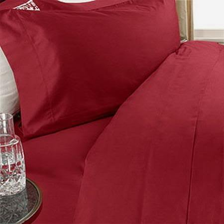 Details for ITALIAN 600 Thread Count Egyptian Cotton Duvet Cover Set , King, Red , Premium ITALIAN Finish from Egyptian Cotton Factory Outlet