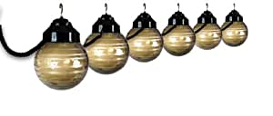 Polymer Products LLC 1632-77404-PRE Black and Etched Bronze Six Globe String Light Set