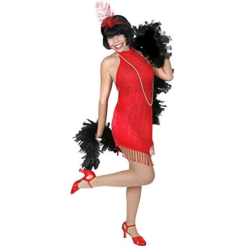 Adult Sexy Red Roaring 20s Flapper Costume (Size: Small 4-6)