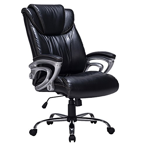 VIVA OFFICE Bonded Leather High Back Thick Padded Chair (Office Chair Padding compare prices)