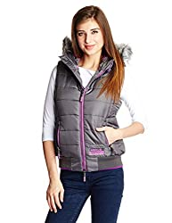 Superdry Women's Quilted Gilet (G50LL002F1_Grey_XS)
