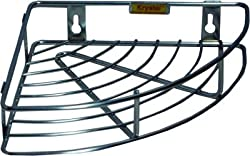 Kt Hardware Solutions Krystal - 9 Inch X 9 Inch Corner Shelf (Stainless Steel)