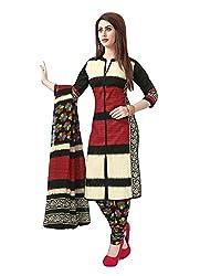 FastColors Women's Cotton Dress Material(arvi-1519_FC_Black)
